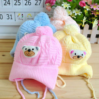 2013 New hot Autumn and winter baby hat baby hat newborn cap tire bear pocket hat line super-soft fleece baby hat free shipping
