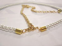 Women's Fashion Pearl Belt,Elastic long size  Dress Decoration Chain , FREE SHIPPING YL028