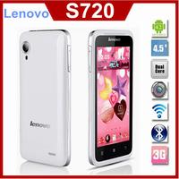 "Original Lenovo S720 S720i 4.5""  Andorid 4.0 MTK6577 Dual Core Mobile Phone GPS 4GB ROM Dual Sim Free Shipping"