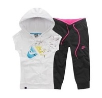 2014 summer new Round neck cotton sportswear women's sport suit tracksuits 2 pcs Sweater+pant