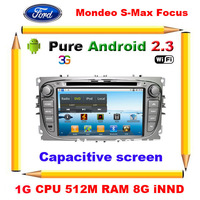 Focus Mondeo S-max Kuga c max Android 2.3 Car DVD GPS With 1G CPU,512 RAM,Capacitive screen,Radio,BT,IPOD,(Optional 3G Wifi )