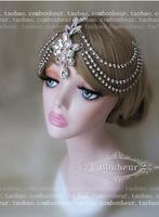 Luxury very bling bling full rhinestones crystal wedding bridal head jewelry hair clips hair jewelry accessory