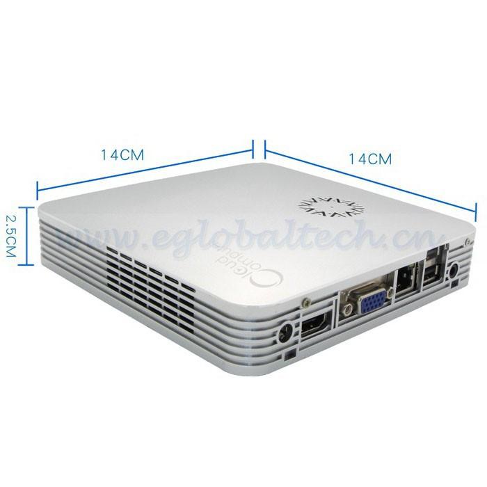 2GB DDR3 128GB SSD Intel Celeron 1037U Alloy Computer Case Mini ITX Windows 7 Mini PC WiFi TV Box with HDMI, VGA(China (Mainland))