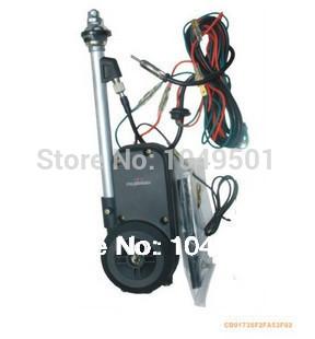 FREE SHIPPING Universal car radio antenna car electrical auto lift remote control aerial FM AM car antenna refit Auto parts(China (Mainland))