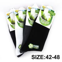 Big size 22Pcs=12pairs/lot Bamboo fiber Men's sock high quality male long socks classic Brand Men's Socks free shipping