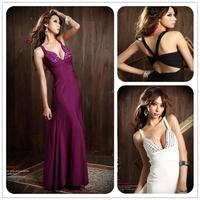 2014 New Fashion Han Edition Sexy Goddess Beautiful Bosom Gem Ornament Behind The Cross Women Sexy Dresses Free Shipping