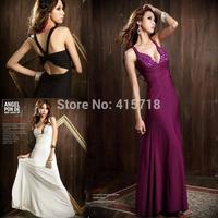 2014 Womens Sexy Elegant Party Bodycon Bandage Evening Dresses Long Prom Gown Cocktail Dresses Vestido De Festa