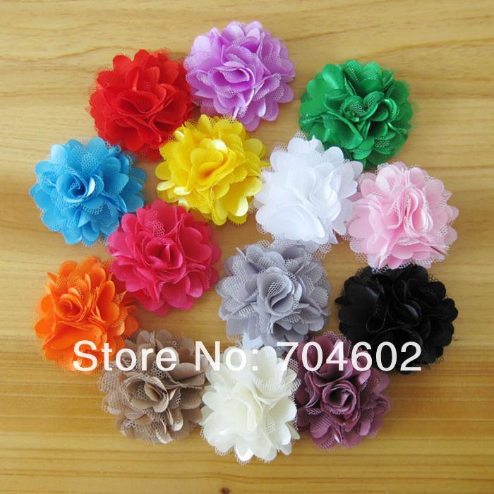 20pcs/lot Hair accessory 2'' Rosettes DIY flowers satin silk carnation fabric flower Flat back Free shipping TH54(China (Mainland))