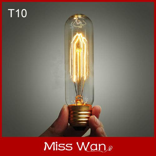 Hot!! T10 110v/220v creative line hanging vintage cord within E27 edison bulb for restaurant retro bar lights test tube lamp(China (Mainland))
