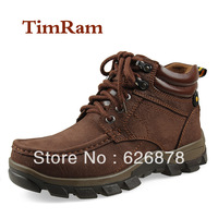 2013 winter cotton-padded shoes male genuine leather martin boots snow boots outdoor plus size 45 46 casual cotton-padded shoes