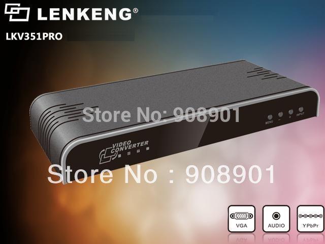 1pcs VGA PC / YPbPr Component+Audio to 1080P HDMI Converter Scaler . Wholesale Free Shipping(China (Mainland))