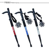 2014 new outdoor 4 camera hiking pole monopod pedestrianism three-color Alpenstock walking stick