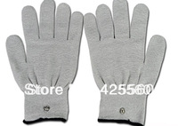 Free shipping silver conductive fiber tens/ems gloves electrotherapy/facial conductive tens gloves face massager gloves