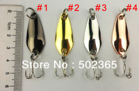 Carp Jig New Design 20 Pcs Fishing Spoon Lures Metal Hard Tackle 3.5cm 3.7g 8#hooks (sp017) 4 Colors Spinner Bait/ free Shipping