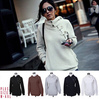 Big Size New 2013 Autumn Hoodies Sweatshirt Women Sport Suit Hoodie Pullover Fleece Winter Warm Sweatershirts Girls M-XXXL