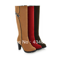 Free shipping cheap Winter over-the-knee 25pt lacing martin boots wear-resistant slip-resistant warm boots tall boots