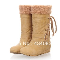 Free shipping cheap 2013 women's shoes casual boots flat back fashion strap roll up hem women's boots medium-leg boots