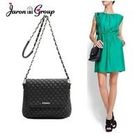 Mng mango women's handbag black bags dimond plaid women's crossbody handbag bag messenger bag chain bag
