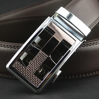 New Arrive New Fashion Man's Genuine Leather Belt Automatic Buckle Man Mens Real Leather Belts No:QDF955 Free Shipping