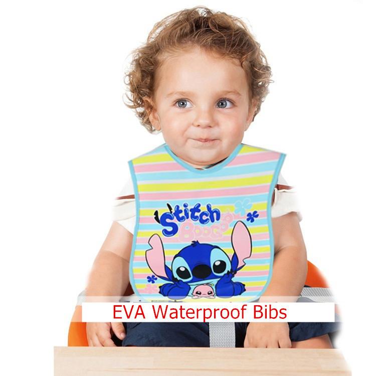 Waterproof Baby's Bib Baby's Pinny Infant Saliva Towels Cartoon No-clean EVA PEVA Having Dinner Collect Food 20 design New 2014