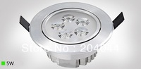 Free shipping:5W  LED downlights, energy-saving with excellent heatsink high brightness epistar