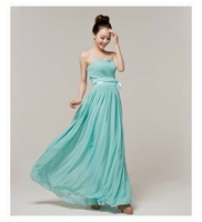 2014 new cheap fashion long  mint green chiffon Bridesmaid dresses under 50 (lavende  royal purple champagne blush)