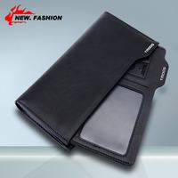 Hot Sale NEW DESIGN Genuine Leather Wallet Men Long Style Cowhide Zipper Purse Multi Card Black Blue Brown Wholesale NO1354