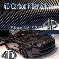 "30x152CM 12""x 60"" Free Shipping 4D Carbon Fiber Vinyl / Carbon Fiber Film car styling /4D Carbon Fiber Sticker"