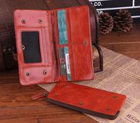 2014 New Camouflage Genuine Leather Men Wallets Brand Vintage Calfskin Wallet Money Clip Zipper Purse Carterira TBT0093