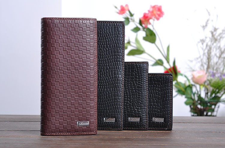 Fine men's short head layer leather wallet wholesale upscale men's leather leather wallet manufacturers supply(China (Mainland))