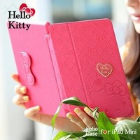 For ipad mini kitty Cartoon Star Style flip leather stand case for ipad mini smart Ultrathin sleep case free shipping id054