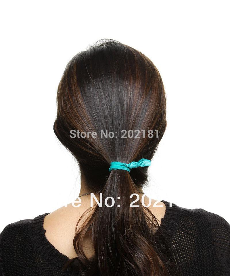 Free shipping 50pcs/lot Emi Jay Like Elastic Goody Ouchless Ribbon Elastics Hair Bands-Girls Hair Accessories Yoga Hair Ties(China (Mainland))