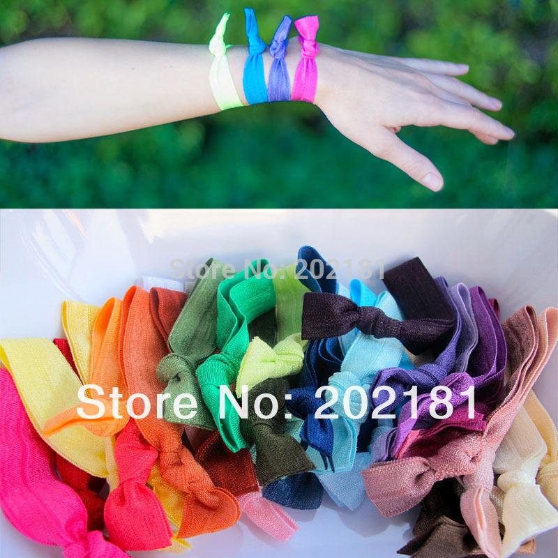 50color 200pcs/lot Emi Jay Like Elastic Goody Ouchless Ribbon Elastics Hair Bands-Girls Women's Hair Accessories Yoga Hair Ties(China (Mainland))