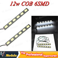 Ultra-thin High power 36W 3W*6*2 COB waterproof led DRL Daytime Running Light cold white fog light E4 Free shipping #YN30