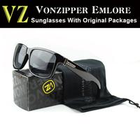 Brand Vonzipper Elmore Sunglasses Black 2014 New Fashion Women Glasses VZ Mens Outdoor Sports 15color With Original Packages
