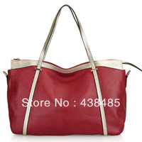 2013 British Style 100% First Layer Cow Genuine Leather Women Casual Totes Big Shoppers Satchel Shoulder Bag Handbag Wholesale
