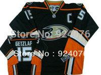 Custom Men's Anaheim Ducks hockey jerseys #15 Ryan Getzlaf Black Third Ice Jersey 3rd version with C - Can Customize (XXS-6XL)