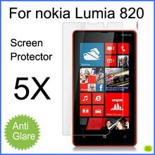 5pcs Free Shipping Mobile Phone nokiaLumia 820 Screen Protector, Matte Anti-Glare nokia820 Screen Protective Film Original