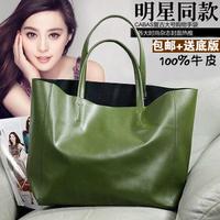 2013 fashion brief bag large capacity leather bag genuine leather handbag women's shopping bag one shoulder handbag big bags