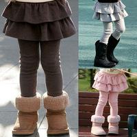 Hotselling  Kids Girls Ruffle Leggings Autumn Spring dancing skirt pants Korean leggins J05 (below is Asia size )