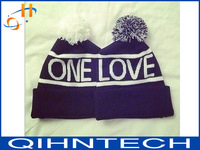 2014 fashion hair bulb knitting wool hat lovers suit hat one love free shipping