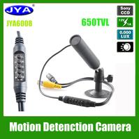 1/3 CCD sony JYA6008 0.0005LUX , low illumination level, Wide dynamic  Motion Detenction mini camera