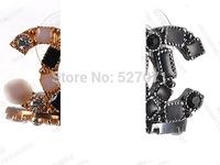 luxury  black and white gem stud earring stud earring durable
