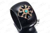 Luxury small c vintage royal wind colored glaze bracelet hand bracelet