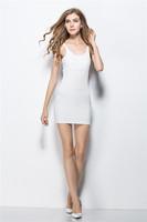 Women's Fashion Basic Solid Strap Mini Sexy Dress W3335