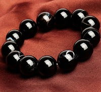 10mm medallion bead string hand act the role ofing is tasted black agate Freeshipping