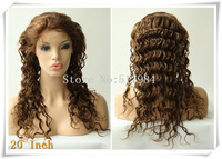 "120% Density! Brazilian Human Hair Glueless Full Lace Wigs 4/27# color 20""Deep Wave Brown Lace B37"