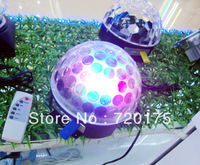 Wholesale 4/lot Good Quality Led3*3W  LED RGB Crystal Magic Ball Effect Light Disco DJ Stage Light