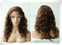 "120% Density! Brazilian Human Hair Glueless Full Lace Wigs 4# Dark Brown 10""12""14""16""20"" Body Wave Brown Lace B21"