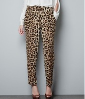 KZ77 2013 new Fashion womens' Leopard print pants elegant slim look loose trousers casual leisure brand designer pants